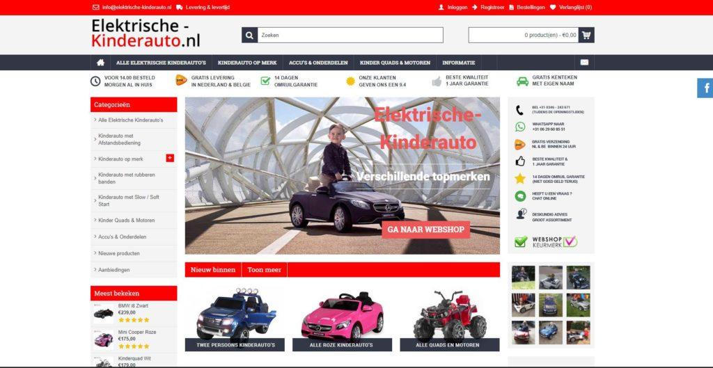 online-marketing-bureau-elektrische-kinderauto